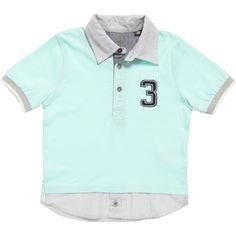 Boys Blue Organic Cotton Polo Shirt, Timberland, Boy