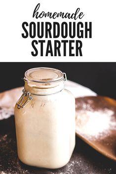 Homemade Sourdough Starter   Jennifer Cooks Best Bread Recipe, Easy Bread Recipes, Vegan Recipes Easy, Sourdough Recipes, Sourdough Bread, Amish Bread, Healthy Sandwich Recipes, Healthy Breads, Bread Starter