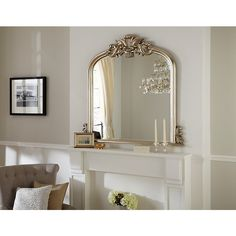 Buy Haversham Overmantel Mirror Silver H119 X W114cm Online At Johnlewis