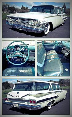 Chevrolet – One Stop Classic Car News & Tips Chevy Classic, Best Classic Cars, Station Wagon Cars, Chevy Nomad, Old Wagons, Mustang Cars, Us Cars, Chevrolet Impala, Muscle Cars