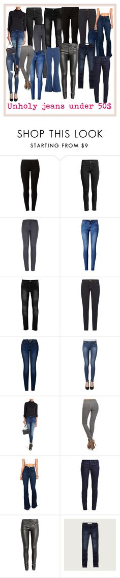 """""""Unholy jeans"""" by tiffanie22 ❤ liked on Polyvore featuring Dorothy Perkins, 2LUV, WithChic, Noisy May, Miss Kitty Couture, Vibrant and Abercrombie & Fitch"""