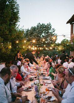 Guirnalda de luces. Boda hipster al aire libre organizada por Detallerie. Lights garland. Outdoors hipster wedding by Detallerie.