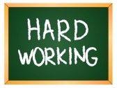 Met hard werken bereik je iets