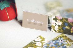 diy fabric backed business cards