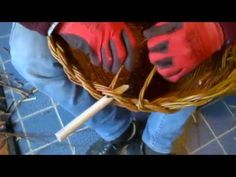 Chiusura di un cesto con manici doppi e treccia a 2 capi. 3 di 3 - YouTube