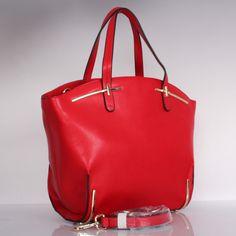 'Maura' Red Italian Leather Handbag