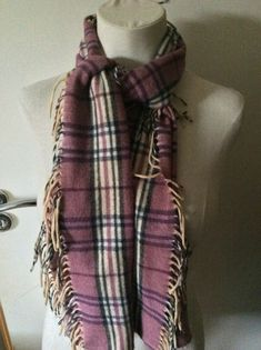 Wool pink tartan scarf   | eBay Tartan Scarf, Wool Scarf, Scarves Uk, Womens Scarves, Blanket Scarf, Pink Fashion, Pure Products, Ebay, Things To Sell