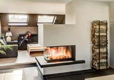 Kamine von Rust aus Guetersloh Bielefeld in WestfalenRust Kaminbau Home Fireplace, Modern Fireplace, Fireplace Design, My Living Room, Home And Living, German Decor, Chalet Design, Freestanding Fireplace, Home Decor Online