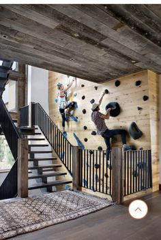 farmhouse home accents Modern Bozeman hideaway with stunning farmhouse accents Home Climbing Wall, Rock Climbing Gear, Living Haus, 17 Kpop, Dream Rooms, Residential Architecture, My Dream Home, Future House, Decks