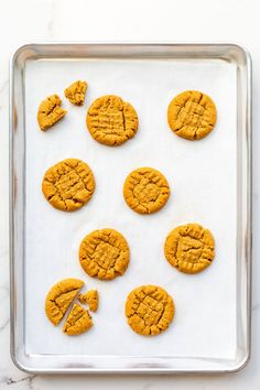 No flour? No problem! Make these flourless peanut butter cookies with any all natural peanut butter or other nut butters, and even tahini! These cookies are super easy to make with just a bowl and a spoon, and they're gluten-free and dairy-free! Classic Peanut Butter Cookies, Gluten Free Peanut Butter Cookies, Almond Butter Cookies, Gluten Free Kitchen, Gluten Free Baking, Easy Baking Recipes, Natural Peanut Butter, Oatmeal Cookies, Holiday Baking