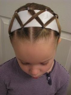 One way to get those headbands to stay in her hair all day!