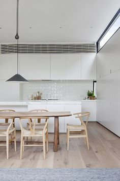 White Smoked American Oak timber floors have been specified for this Armadale home. Designed by Made by Cohen in association with Robson Rak Architects. Photography: Shannon McGrath. www.royaloakfloors.com.au