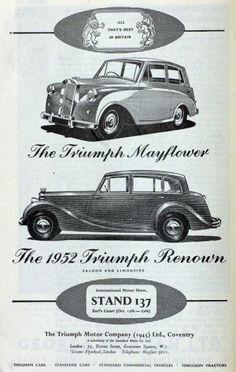 Triumph Mayflower,  Renown,  London motor show 1951