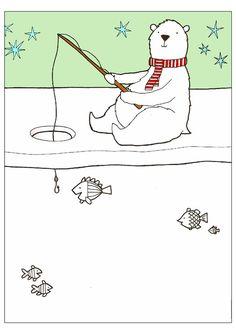 Ours polaire à la pêche à compléter