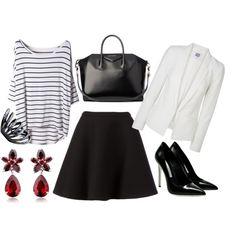 """skirt black"" by camila-maffessoni on Polyvore"