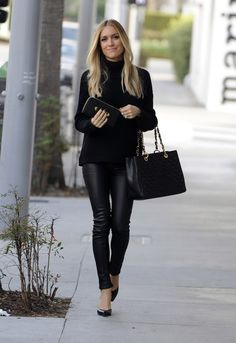 Kristin Cavallari in Rag & Bone Reverse Jodhpur Leather Pants