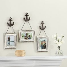 Wall Solution 6-Piece Anchor Frame Set in White - BedBathandBeyond.com