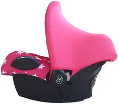 Maxi Cosi zonnekap Fuchsia roze met fuchsia roze maxi cosi hoes. Bekleding autostoel roze print knalroze witte sterren kap kapje zonkapje. Sonnenverdeck, bezug, car seat cover, pimpen, sun hood, canopy, sunhood >>https://www.stoelsprookjes.nl/c-3077811/maxi-cosi-hoezen/