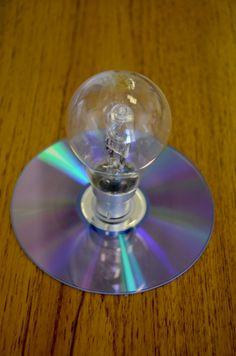 Glass photography~ #lightbulb #cd