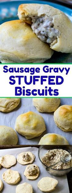 Sausage Gravy Stuffed Biscuits is part of Sausage Gravy Stuffed Biscuits Spicy Southern Kitchen - These Sausage Gravy Stuffed Biscuits have a hidden pocket of rich and creamy sausage gravy A delicious and easy southern breakfast! Southern Breakfast, Breakfast Desayunos, Sausage Breakfast, Breakfast Dishes, Breakfast Recipes, Breakfast Casserole, Breakfast Biscuits, Fun Breakfast Ideas, Breakfast Appetizers