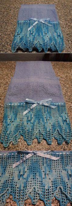 Asciugamano con trina