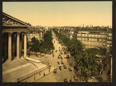 itle: [Boulevard of the Madeline (i.e., Madeleine), Paris, France] Date Created/Published: [between ca. 1890 and ca. 1900]. Medium: 1 photomechanical print : photochrom, color.[Boulevard of the Madeline (i.e., Madeleine), Paris, France]