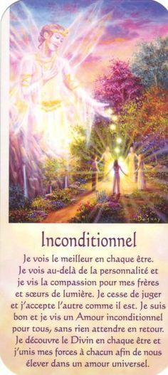 inconditionnel   texte Positive Mind, Positive Attitude, Positive Thoughts, Morning Affirmations, Positive Affirmations, Mario, Messages Spirituels, Reiki, Divine Light