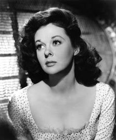 Susan Hayward. Wonderful actress in so many movies. Such a deep and throaty voice. Mesmerizing.