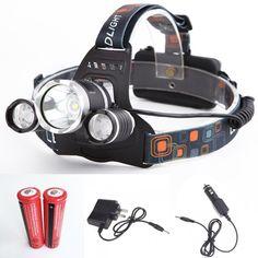 6000 Lumen CREE XM-L 4 Modes Headlight Head Lamp
