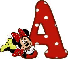 Alfabeto - Minnie 20 - PNG - Completo - Maiúsculas, Minúsculas, Numerais e acentuação. Entrega pelo email apos comprovação de pagamento.