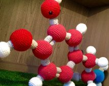 Dopamine Molecule Amigurumi Ball and Stick Model