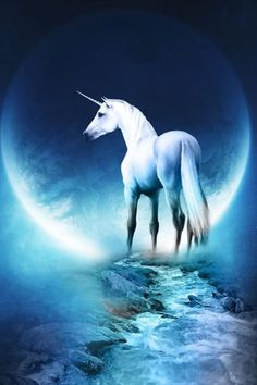 Unicorn and a blue moon