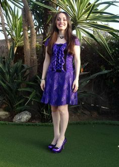 Lolita Patterns | Purple Lace Gunmetal