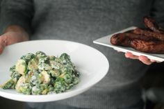 Grilled Brussels Sprouts in Swiss Cheese and Dijon Sauce