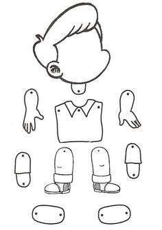 little boy puppet - coloring page Paper Puppets, Paper Toys, English Activities, Preschool Activities, Body Parts Preschool, Worksheets For Kids, Kids Education, Pre School, Bristol