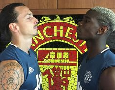 Zlatan Ibrahimovic posted this picture of himself and Paul Pogba facing-off