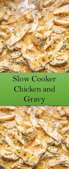 Slow Cooker Chicken and Gravy - Slow Cooking Slow Cooker Huhn, Crock Pot Slow Cooker, Crock Pot Cooking, Slow Cooker Chicken, Slow Cooker Recipes, Crockpot Recipes, Cooking Recipes, Easy Recipes, Chicken Pasta Recipes