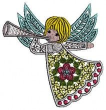 Trompet Angel free cartoon free embroidery designs download pes