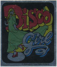 Disco girl sticker