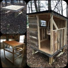 Pics of the base, framing and early work on our pallet wood chicken coop.