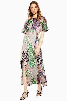 a2dcd57f97 AUSTIN Floral Print Angel Sleeve Midi Dress   Topshop Midi Dress With  Sleeves, Floral Midi