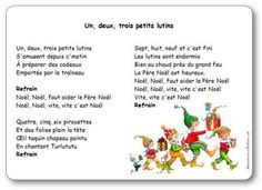 Comptine Un Deux Trois petits lutins French Christmas Songs, Christmas Poems, Christmas Concert, Christmas Carol, Christmas Songs For Toddlers, Christmas Activities, Activities For Kids, French Teaching Resources, Teaching French