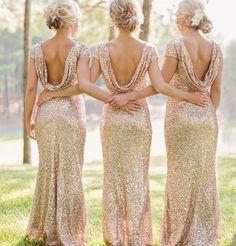 long bridesmaid dress, cap sleeve bridesmaid dress, champagne gold bridesmaid dress, sequin bridesmaid dress, best sale bridesmaid dress, 15060 - Thumbnail 2