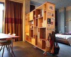 Bookshelf by Miki. We want one! :)