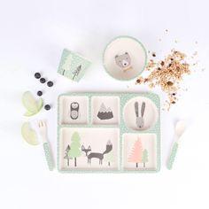 Bamboo Dinnerware - Fox and Friends - (FDA & LFGB food safe approved) by LoveMaeStore on Etsy https://www.etsy.com/au/listing/537284154/bamboo-dinnerware-fox-and-friends-fda