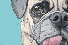 Custom Pet Portrait Art 16x20 by ArtbyManda on Etsy