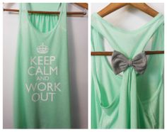 Keep Calm and Work Out / Bow Tank Top / Workout Tank Top / Crossfit Tank Top / Gym Tank on Etsy, $27.45 CAD
