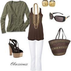 Spring, created by obsessionss on Polyvore.  Anyone shocked that I would pick white pants?? my-style