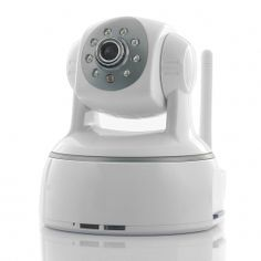 "Plug and Play 720p IP Security Camera ""Strike"" - Pan/Tilt, SD Card Recording, Motion Detection, Two Way Audio"