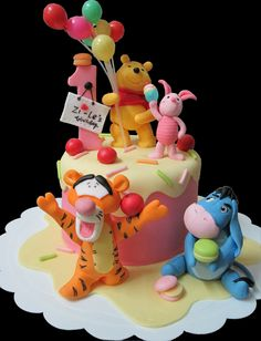 Winnie The Pooh, Tigger, Eeyore And Piglet Birthday Cake